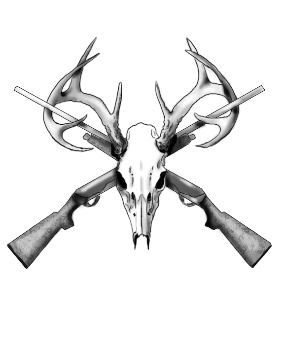 Drawings Easy Skull With Guns: 27+ Deer Skull Tattoo Designs Ideas