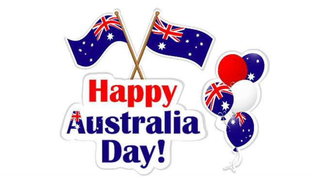 Happy Australia Day Flag Balloons Picture