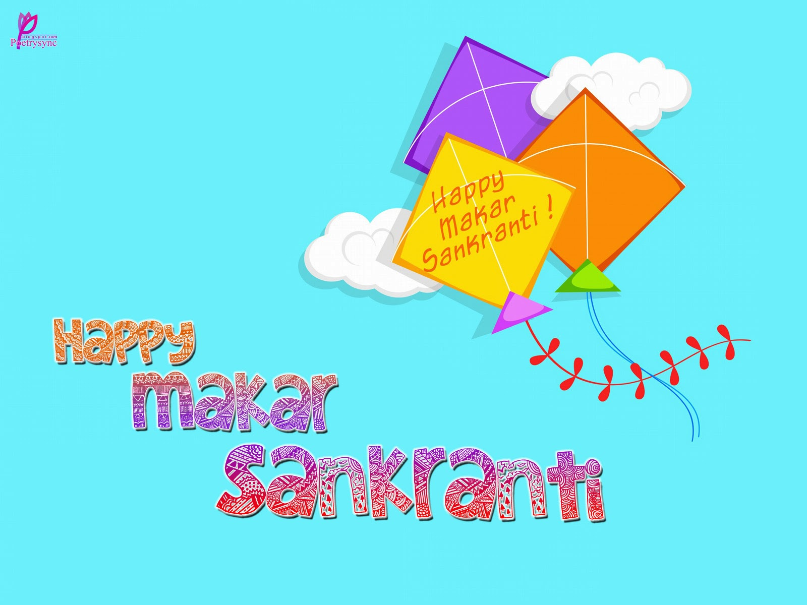 Happy Makar Sankranti 2017 Illustration