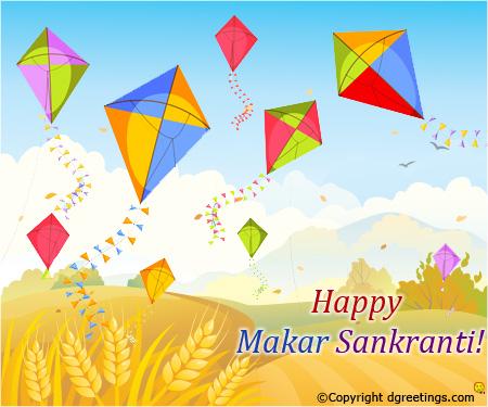 Happy makar sankranti colorful flying kites m4hsunfo