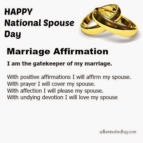 Happy National Spouse Day Marriage Affirmation