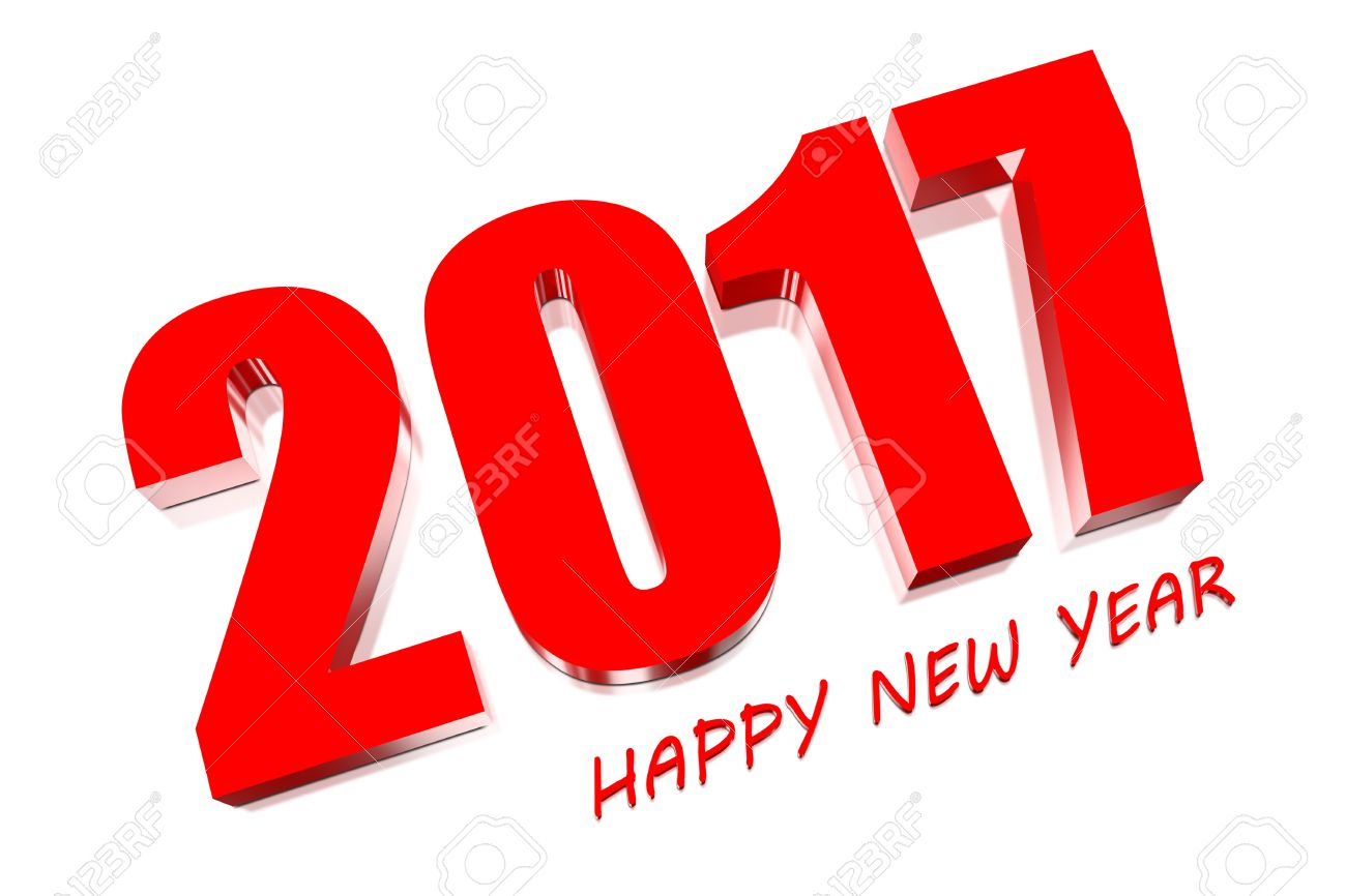 Happy New Year 2017 Red Text
