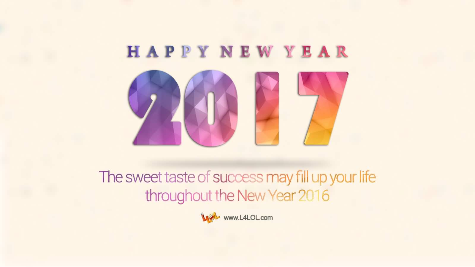 happy new year 2017 the sweet taste of success may fill you your life throughout the