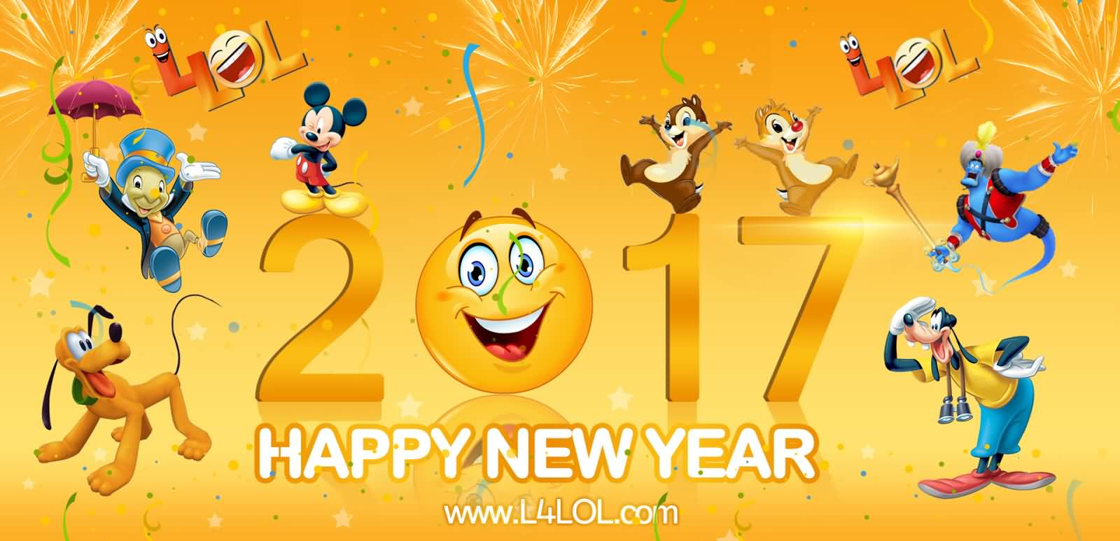 happy new year 2017 wishes from disney