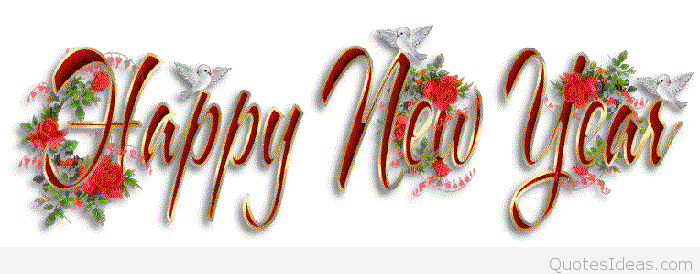happy new year birds and flowers facebook cover picture