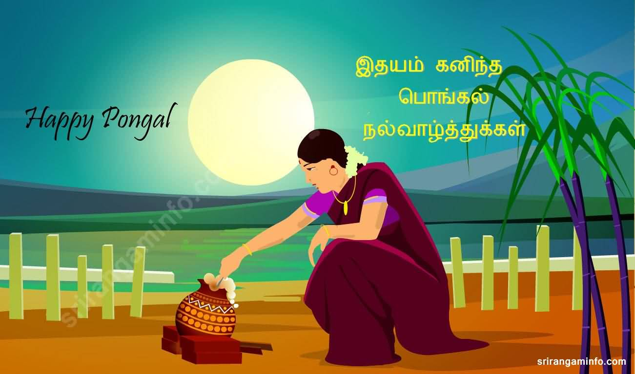 45 best pongal 2018 greeting pictures and images happy pongal tamil woman illustration m4hsunfo