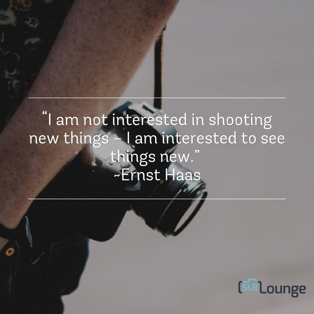 Photography Quotes I Am Not Interested In Shooting New Things I Am Interested To See