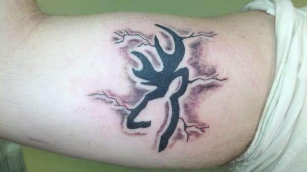 Browning symbol tattoos for girls on hip