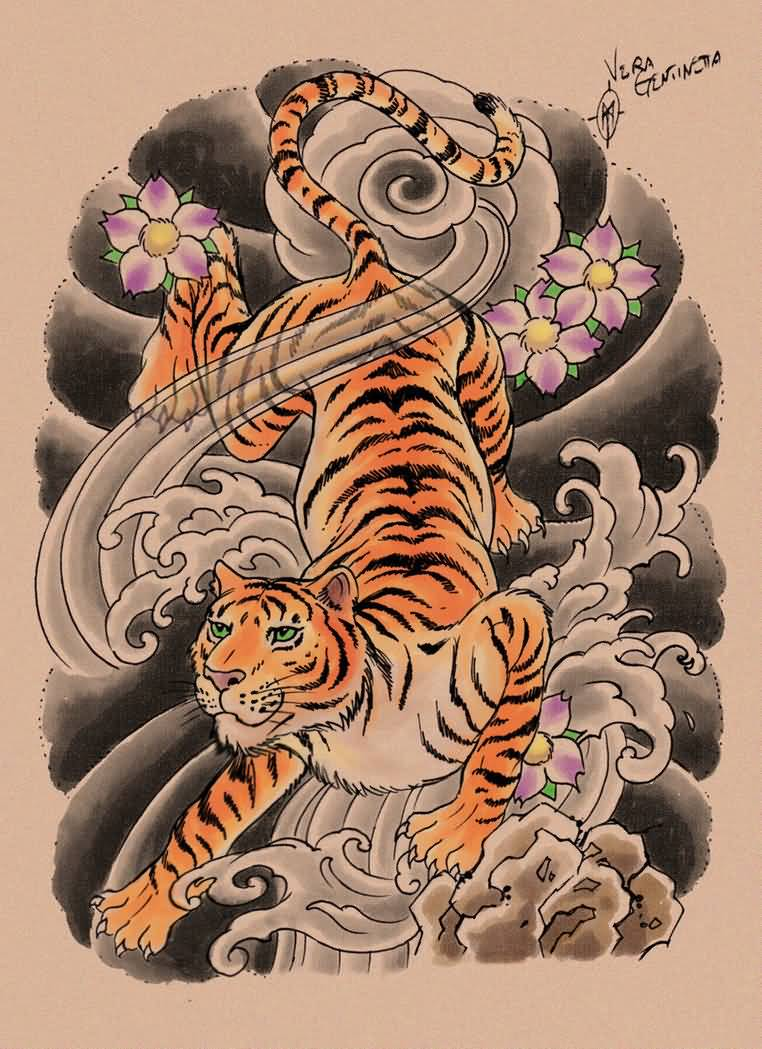 53+ Japanese Tiger Tattoos And Ideas