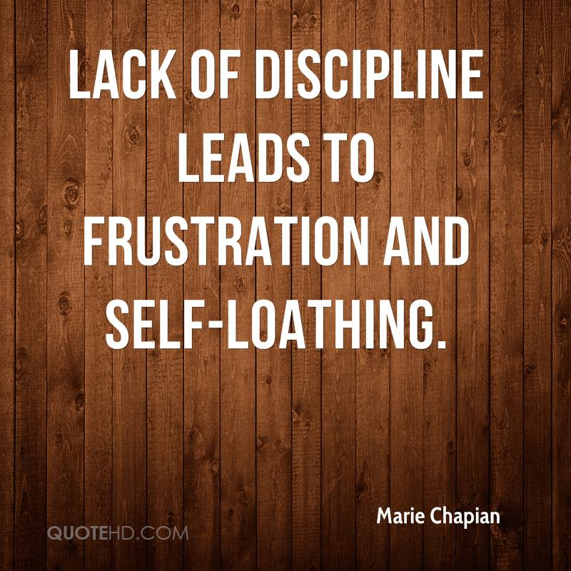 lack of self discipline essay 100% free papers on discipline essay it is clear that students are causing more trouble in schools today because of the lack of discipline self-discipline.