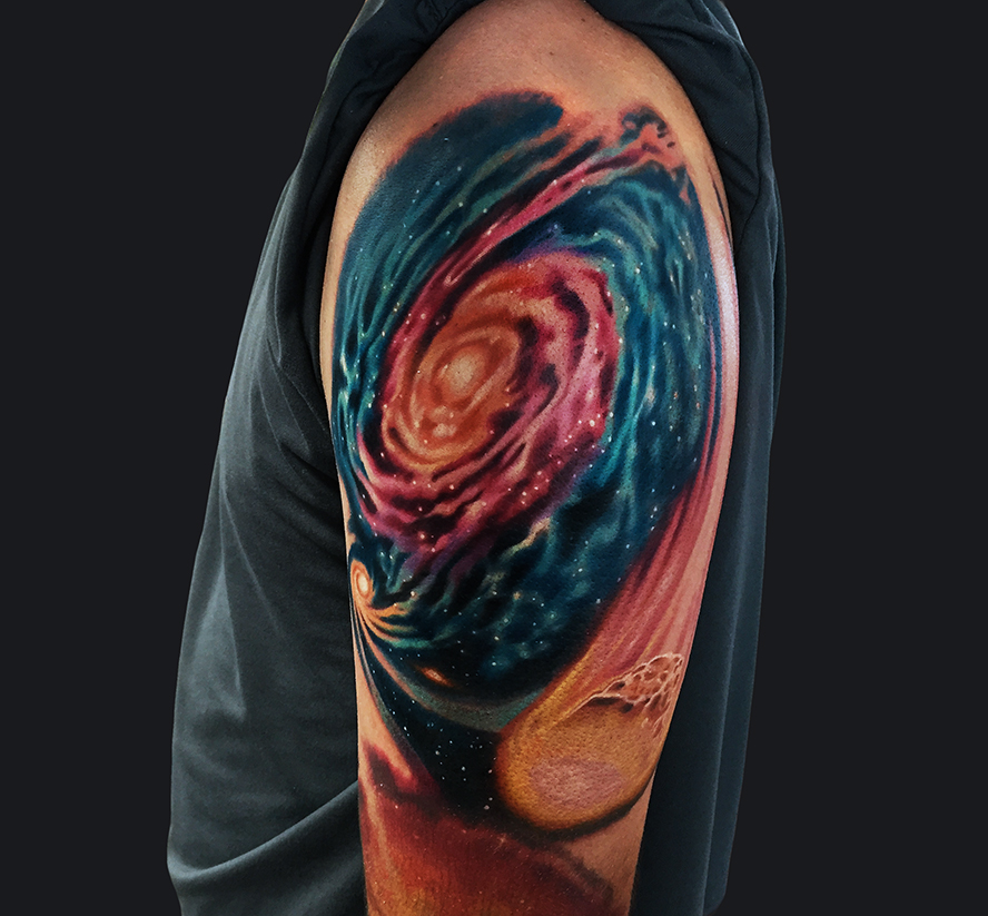 Marc durrant tattoos for Galaxy tattoo sleeve