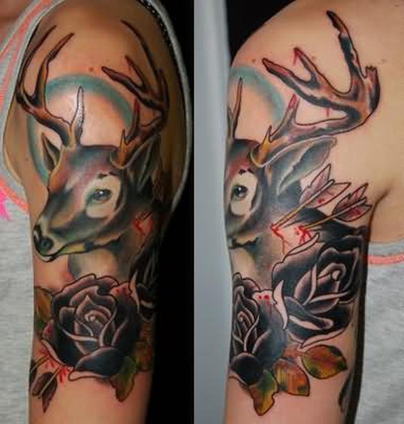 64 traditional deer tattoos ideas
