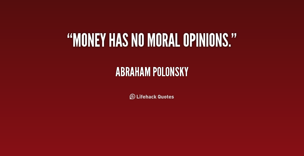 money and morality Conservatives have started telling us that the growing inequality is about a decline in morals but it's mainly about money.