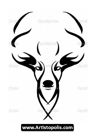 Deer Head Ethnic Pattern 19618628 together with Chief Clipart additionally Tattoo Art Sketch Of A Japanese Warrior 4992094 in addition Deer Tattoo Girls as well Outline Drawing Of A Woman. on vector art deer head