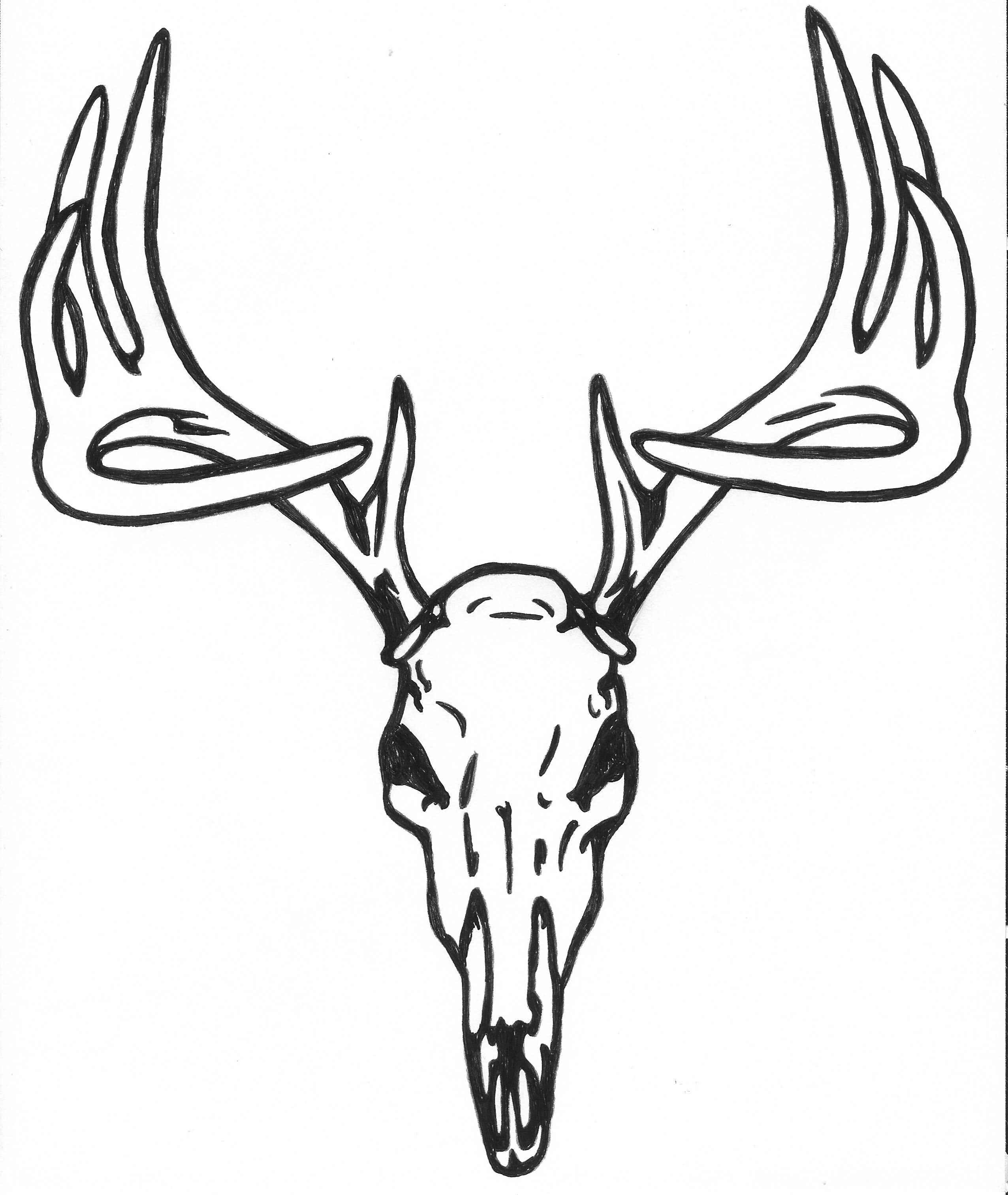 27+ Deer Skull Tattoo Designs Ideas