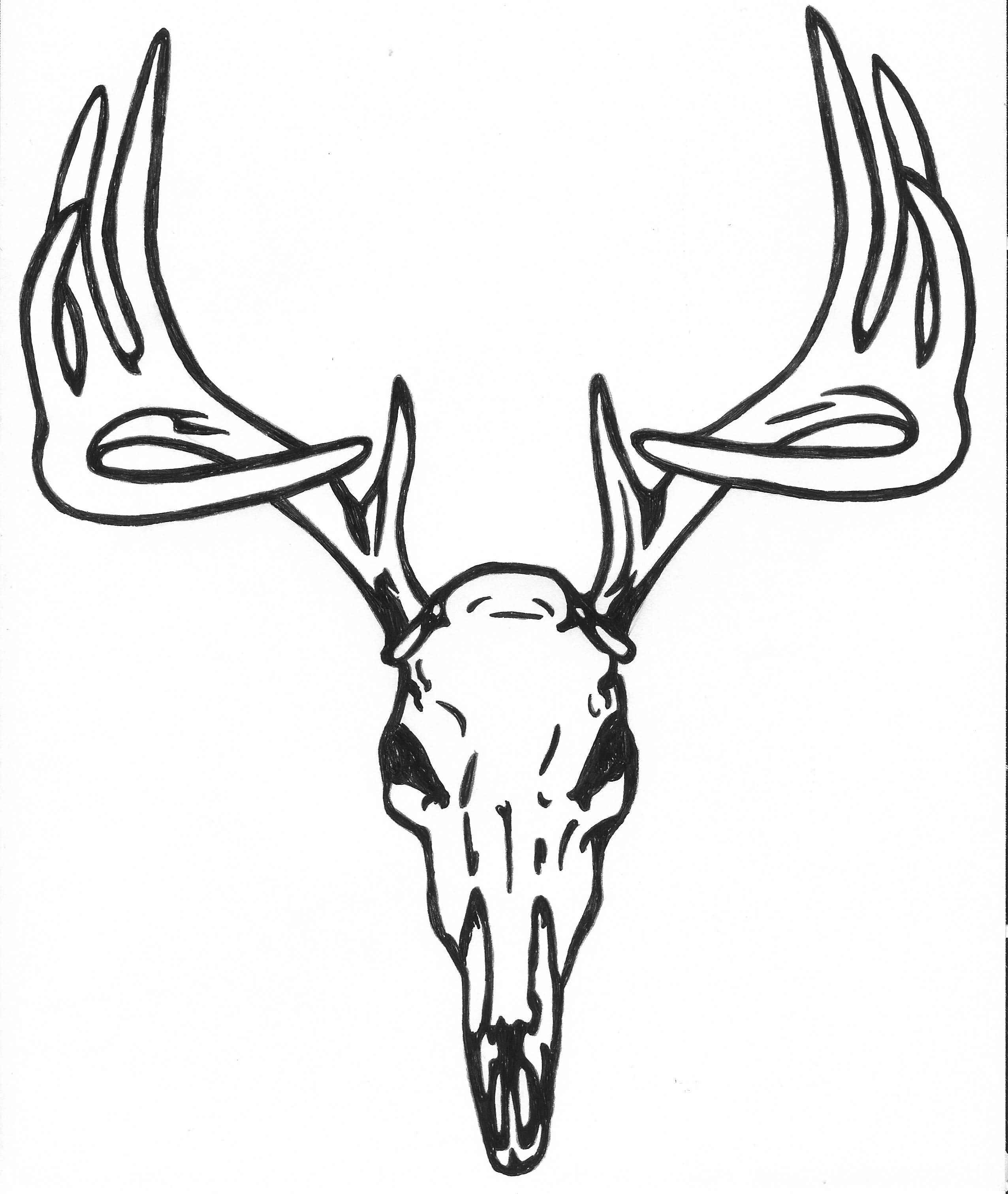 27 deer skull tattoo designs ideas. Black Bedroom Furniture Sets. Home Design Ideas