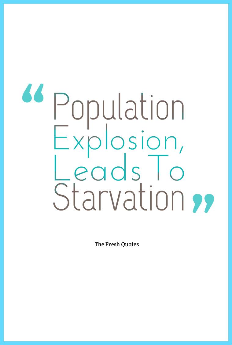 population explosion essay pdf