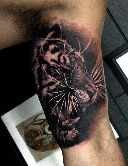 65 tiger tattoos designs ideas. Black Bedroom Furniture Sets. Home Design Ideas