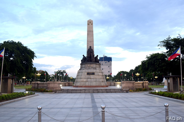 the rizal monument The bronze figures around the sculpture were cast in switzerland dr rizal's remains are buried within the monument inscription: i want to show to those who.