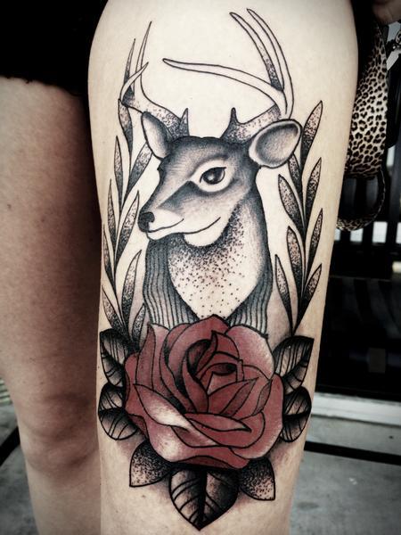 64 traditional deer tattoos ideas