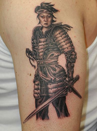 50 samurai warriors tattoos ideas and meanings for Female samurai tattoo