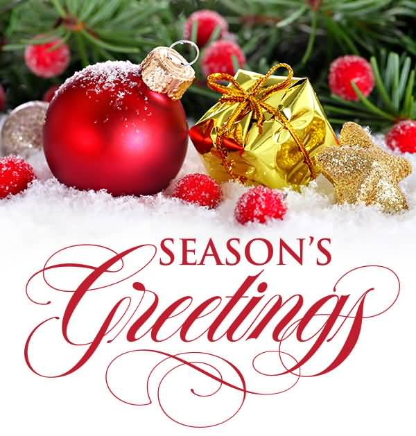 50 most beautiful seasons greeting pictures and photos seasons greetings christmas ball and gift box in snow m4hsunfo