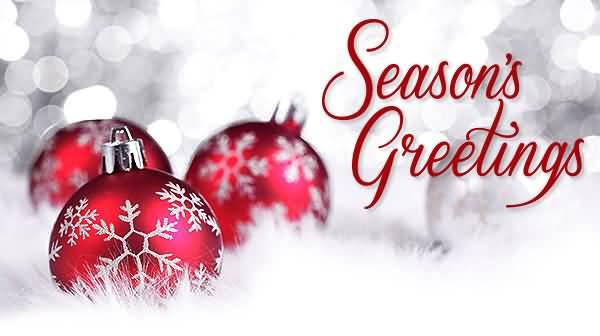 Season's Greetings Christmas Balls Picture