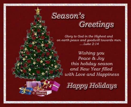 50 most beautiful seasons greeting pictures and photos seasons greetings glory to god in the highest and on earth peace and goodwill towards men m4hsunfo