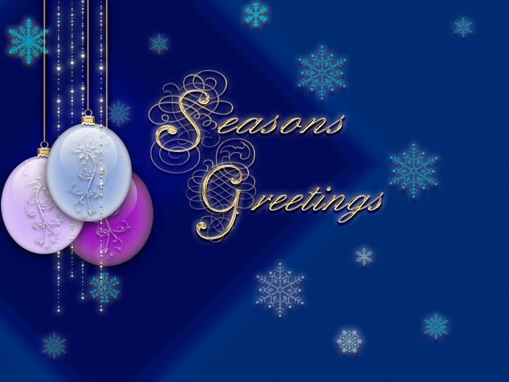 55 best seasons greetings and photos seasons greetings hanging christmas balls picture m4hsunfo