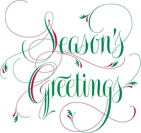 Seasons greetings red and green creative text picture m4hsunfo