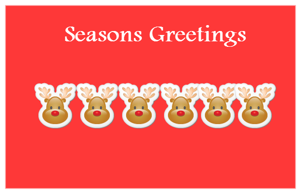 25 beautiful seasons greeting cards images seasons greetings reindeer faces greeting card m4hsunfo Image collections