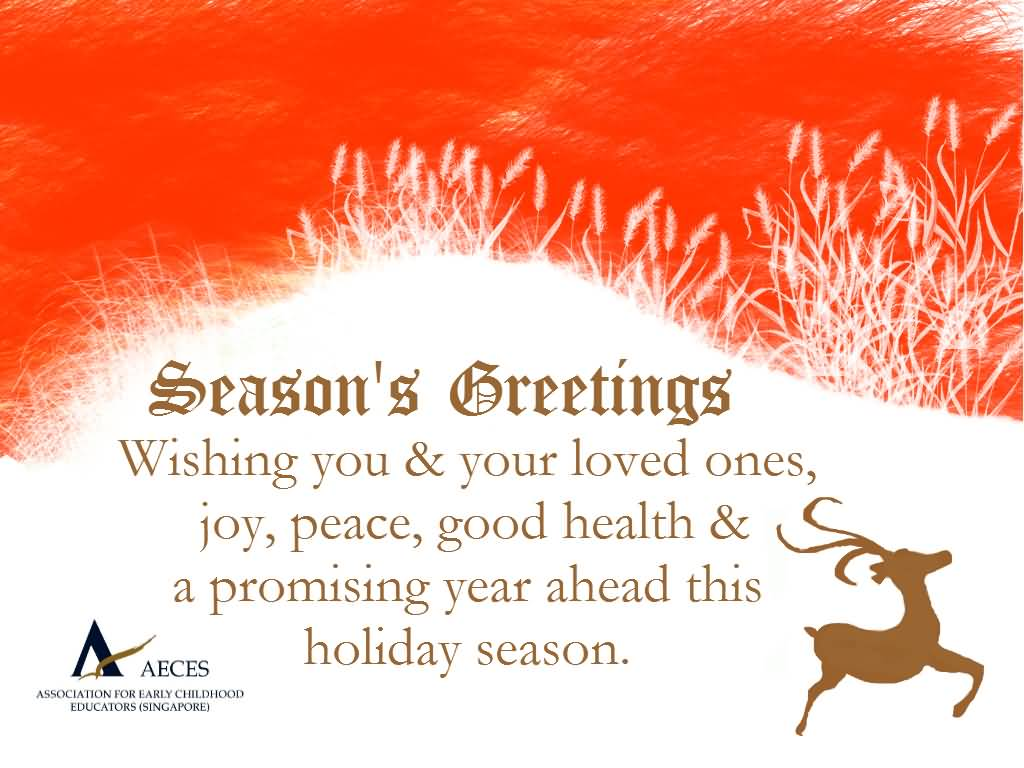 Seasons Greetings Wishing You Your Loved Ones Joy Peace Good