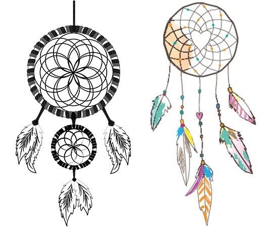 Simple dreamcatcher tattoos designs pronofoot35fo Choice Image