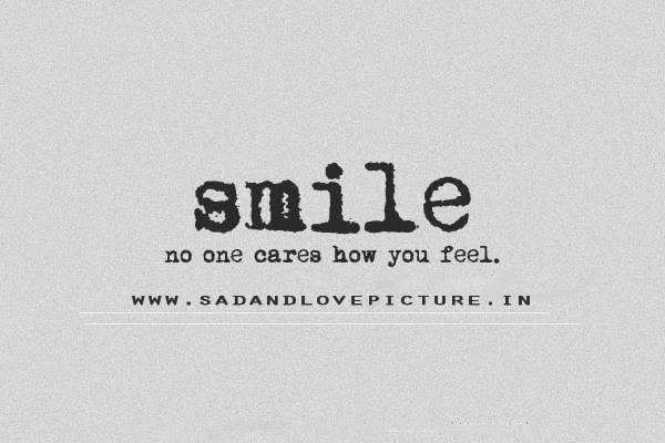 how to smile when your sad