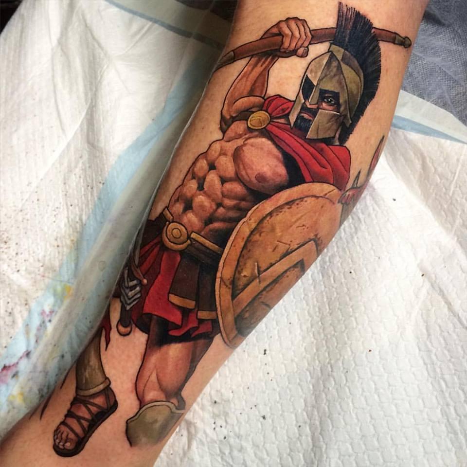 9c57b4374564c Spartan Warrior Tattoo Design For Sleeve