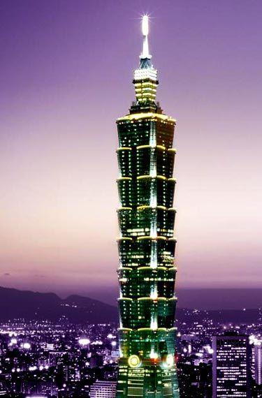 Taipei 101 Tower Looks Beautiful With Night Lights