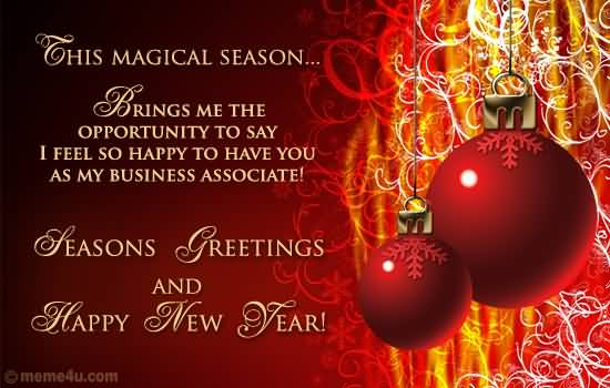 This magical season brings me the opportunity to say i feel so happy this magical season brings me the opportunity to say i feel so happy to have as business associate seasons greetings m4hsunfo Gallery