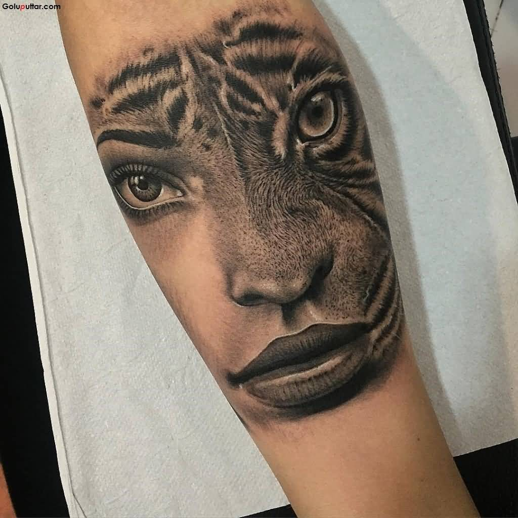 62 best tiger tattoos on forearm for Tiger tattoo face