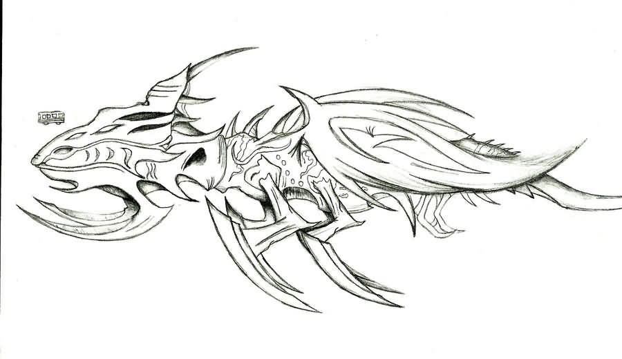Titan Dragonova Tattoo Design