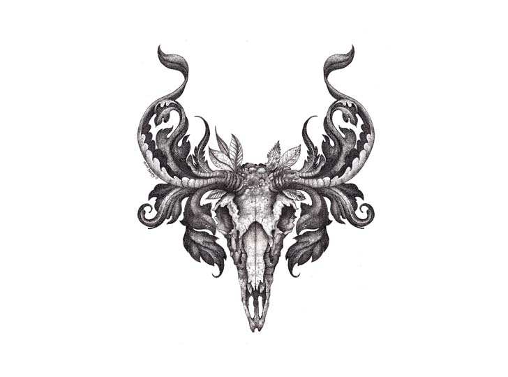 pin deer skull logo design on pinterest. Black Bedroom Furniture Sets. Home Design Ideas