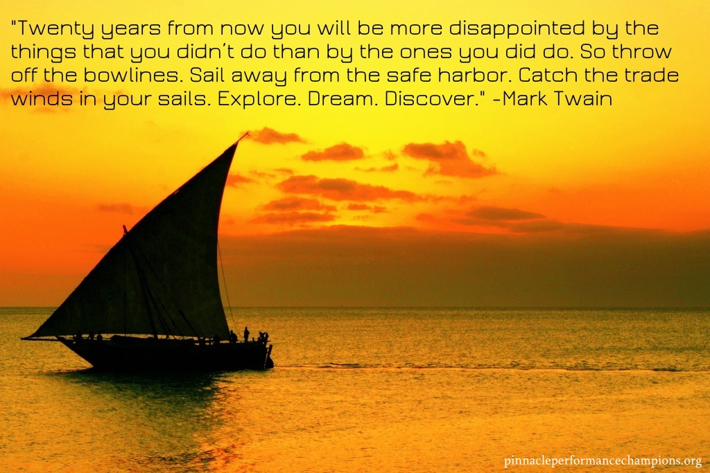 Twenty years from now you will be more disappointed by the ...