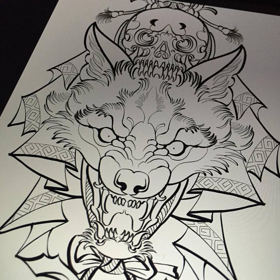 46 Unique Wolf Head Tattoos Ideas: Ripped Skin Skull Tattoo Design