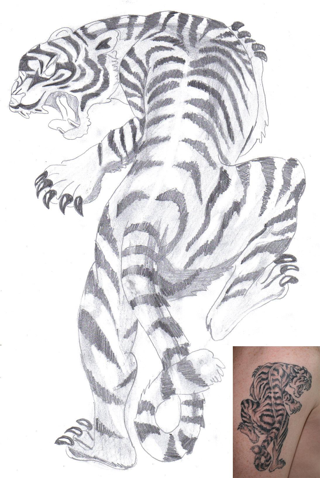 White Tiger Tattoo Design By Aidan