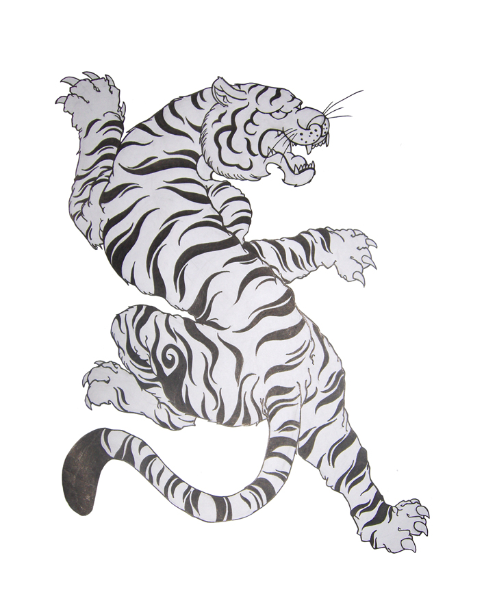Tiger Black And White Tattoo 44+ Best White Tiger T...