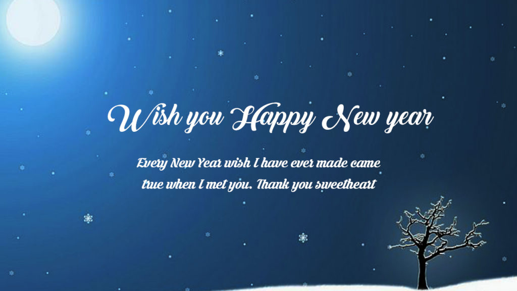 wish you happy new year every new year wish i have ever made came true when