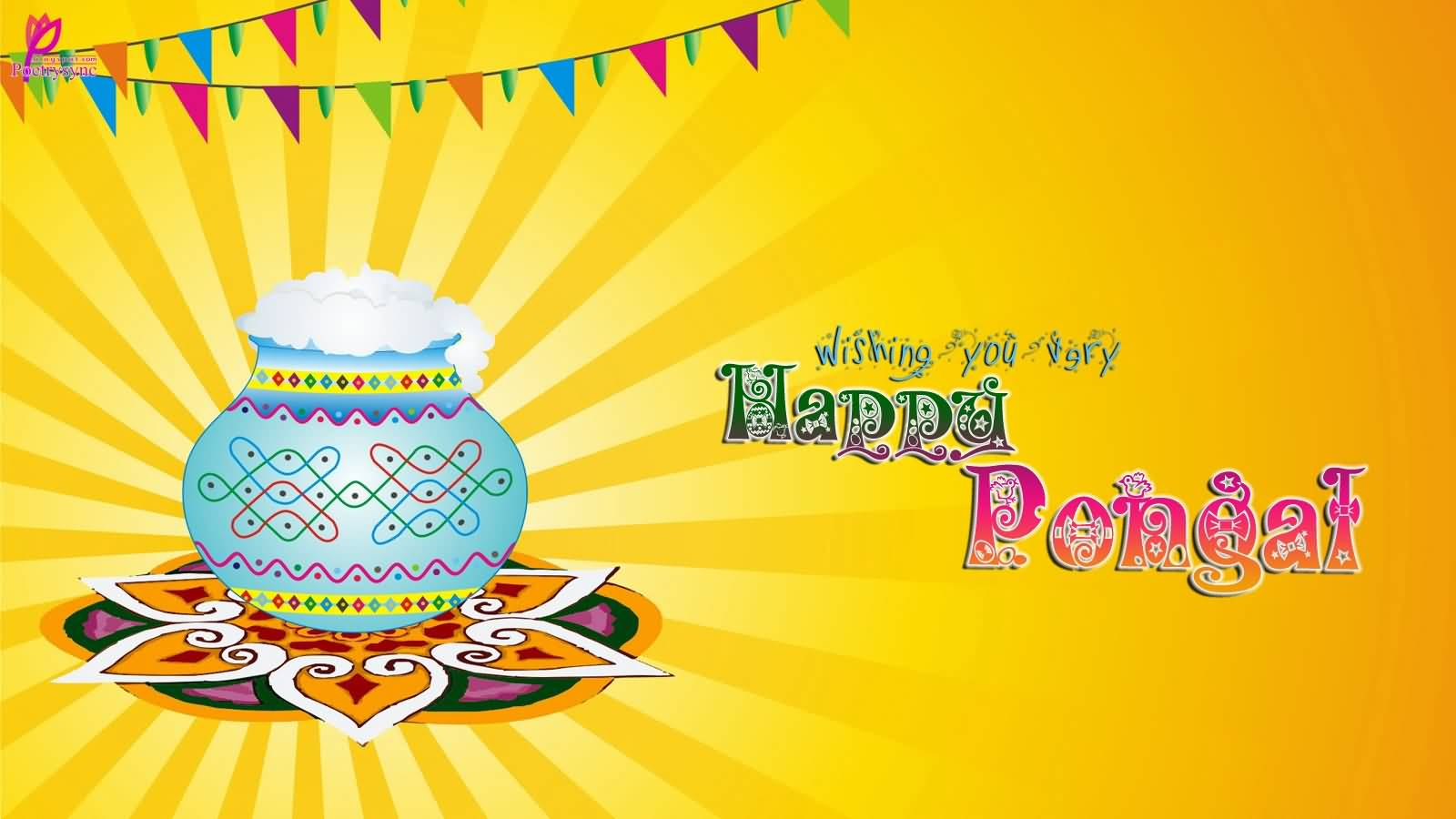 35 adorable pongal 2017 wish pictures and images wishing you very happy pongal greeting card m4hsunfo Gallery