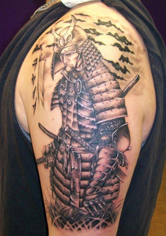 d605d2fba Wonderful Samurai Warrior Tattoo On Man Half Sleeve