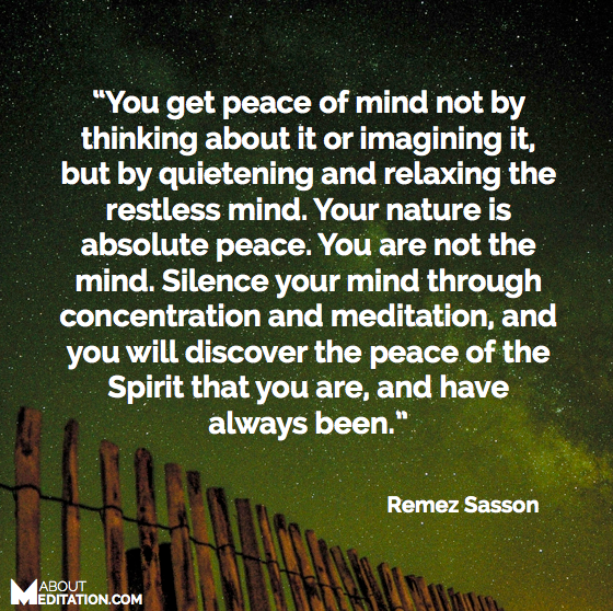 how to bring peace to your mind