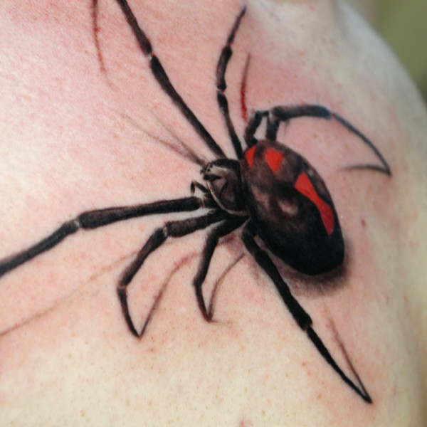 8e09383f58d52 40+ Latest Spider Tattoos Collection