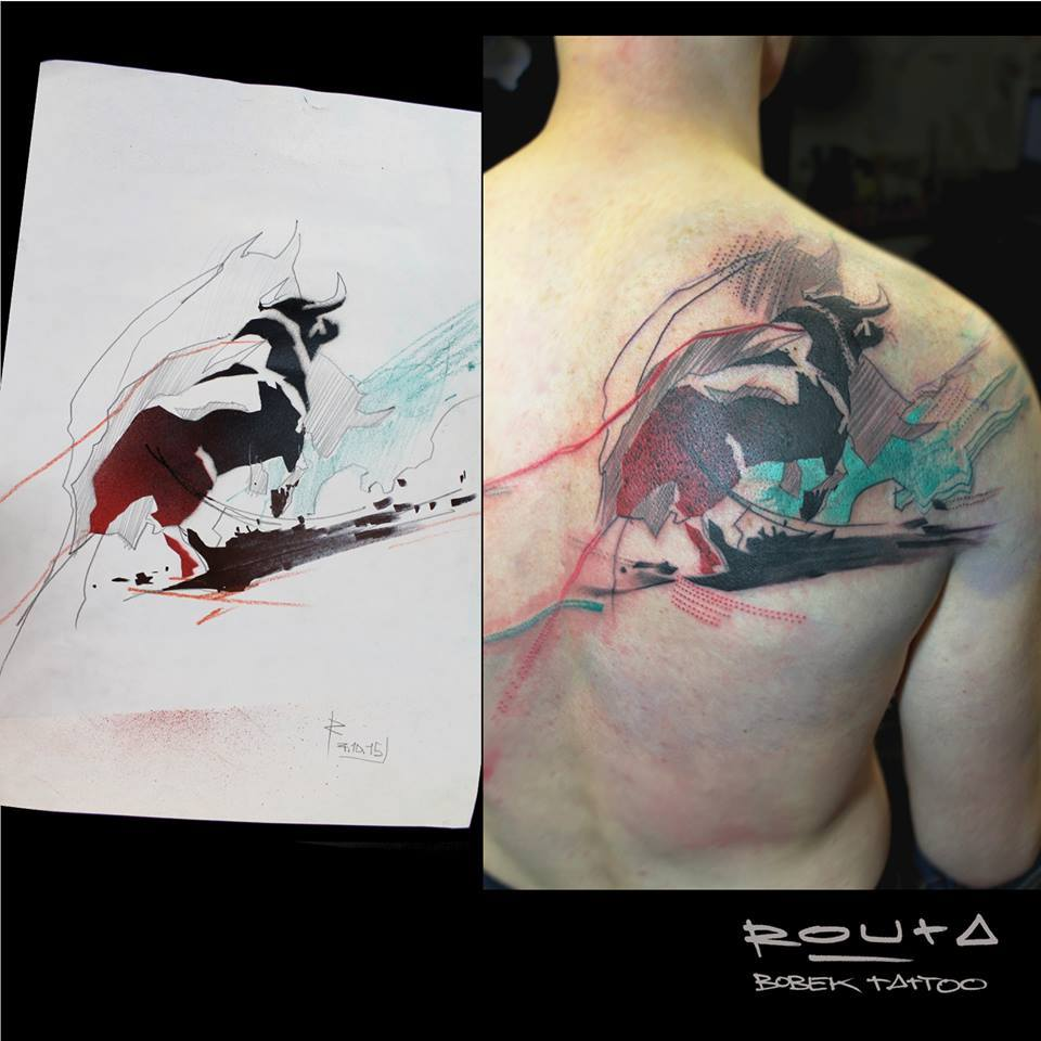 Image result for back abstract tattoo